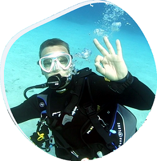 German Divemaster in the Dominican Republic